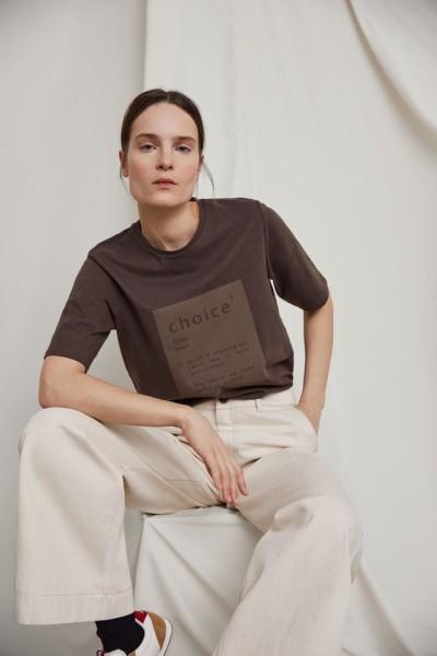 Ecoalf: Modell 'Ecoalf Since T-Shirt - Dark Bronze'