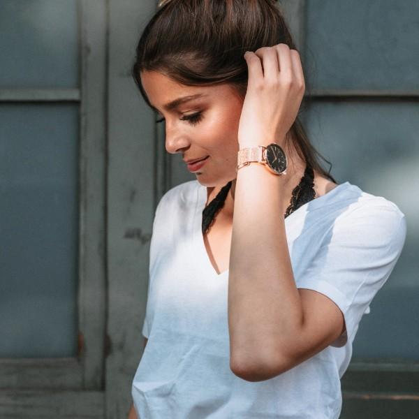 Uhrwerk Berlin: Modell 'Emma Rose Gold - Rose Gold Mesh'
