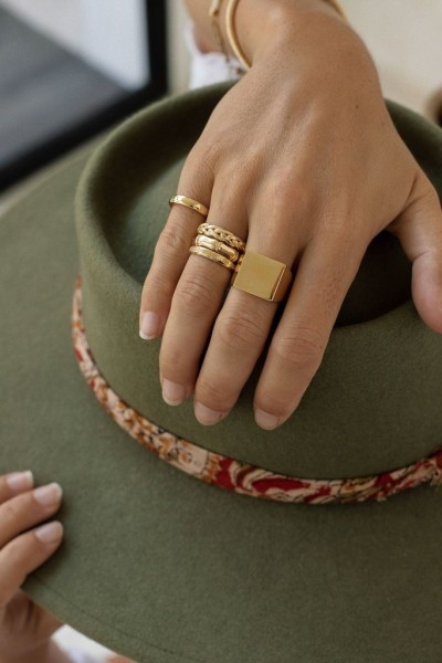 Wildthings: Modell 'Pinky band gold'