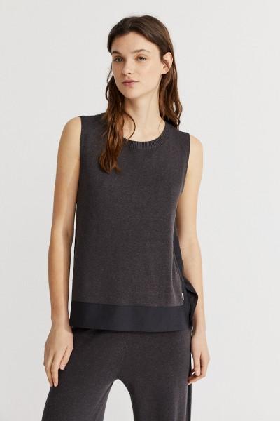 Ecoalf: Modell 'Nahla Top Knitting - Asphalt'