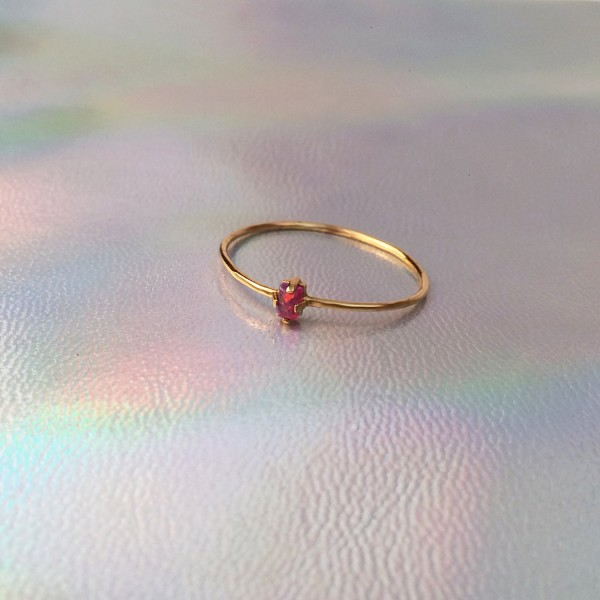 Opal Ring Red - Gold