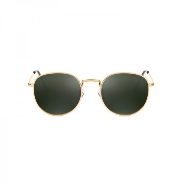 A.Kjærbede: Modell 'Hello Sonnenbrille - Gold Green Lens'