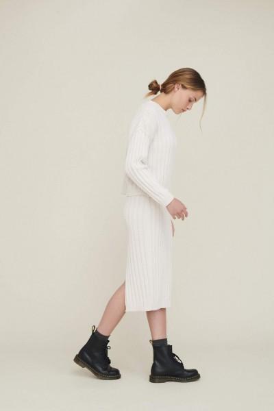 Basic Apparel: Modell 'Siff Skirt - Chalk'
