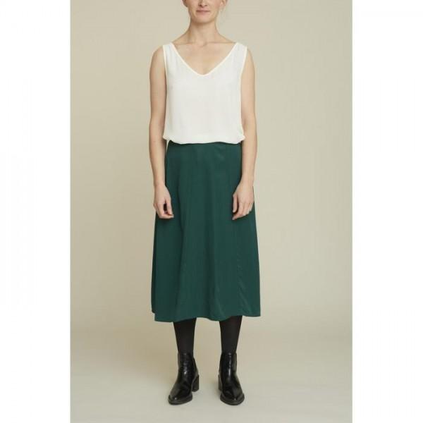 Basic Apparel: Modell 'Keira Skirt - Dark bottle'