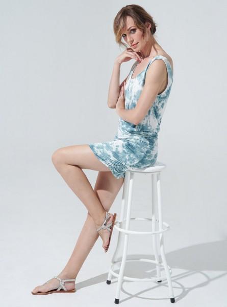 Buddha Wear: Modell 'Keira Dress - Smoked Blue'