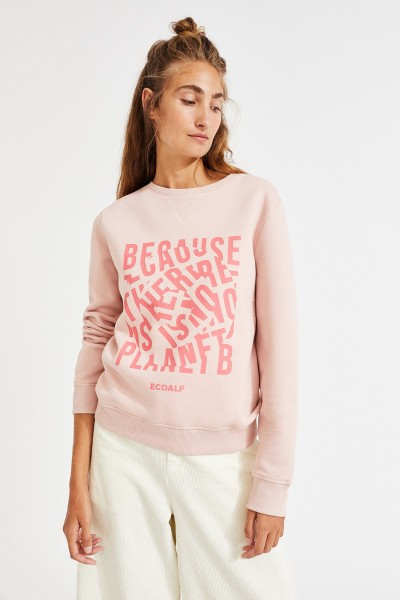 Ecoalf: Modell 'Corvara Sweatshirt - Dusty Pink'