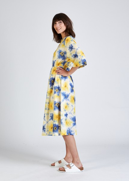 Stoffbruch: Modell 'Amelie Dress - Blue / Yellow (Batik)'
