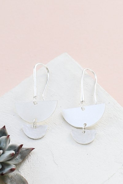 Shlomit Ofir: Modell 'Salinas Earrings - Silver'