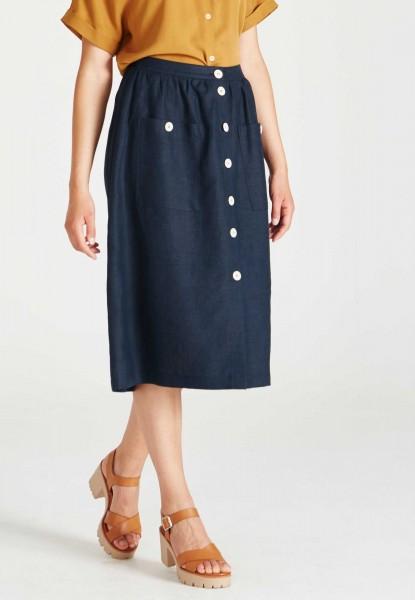 Givn: Modell 'Carmen Skirt - Midnight Blue (Linen)'