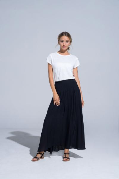 Buddha Wear: Modell 'Emily Maxi Skirt - Black'