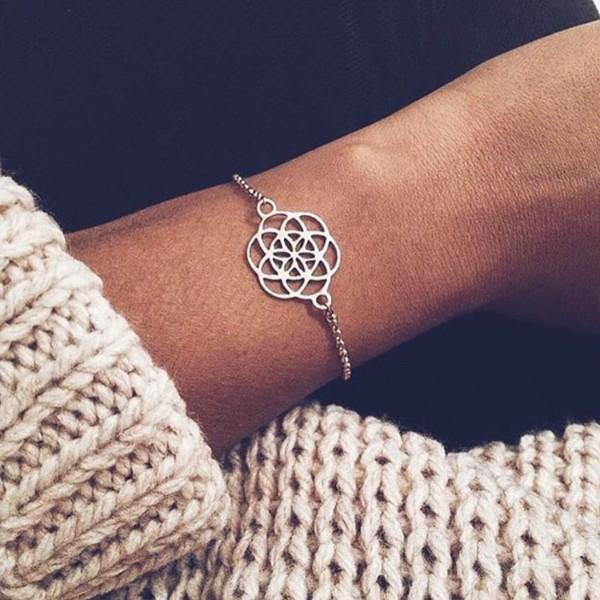Santi Santi: Modell 'Mandala Bracelet - Gold'