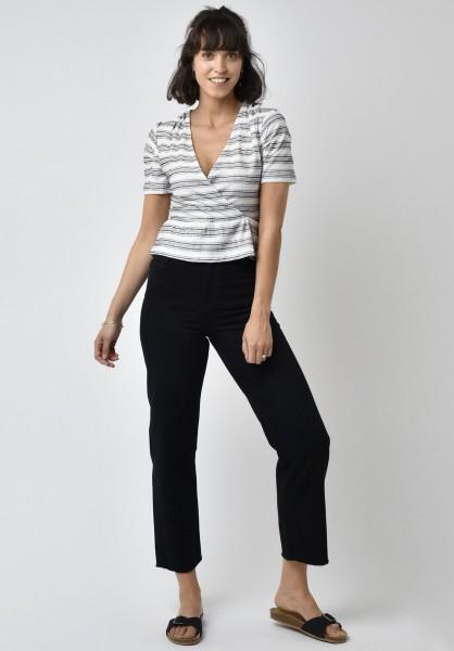 Lovjoi: Modell 'Top Fothergilla Fancy Jersey - Ivory/Black'
