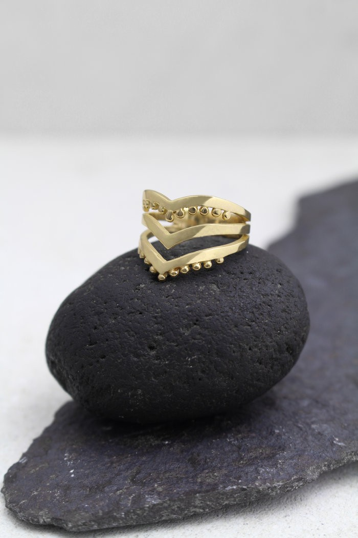Santi Santi: Modell 'Gaya Ring - Gold'