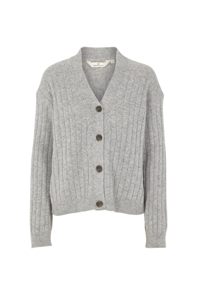 Basic Apparel: Modell 'Line Cardigan - Light grey melange'