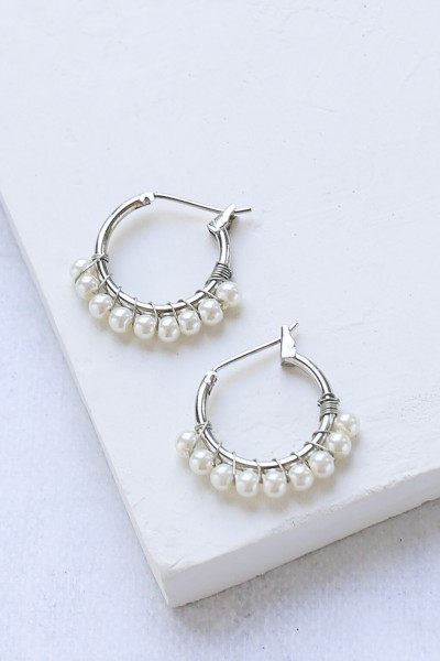 Shlomit Ofir: Modell 'Matilde Earrings - Silver'