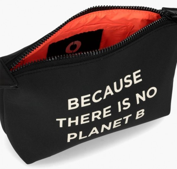 Ecoalf: Modell 'Small Vanity Case W Message - Black'
