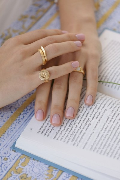 Wildthings: Modell 'Tiny bar ring gold plated'