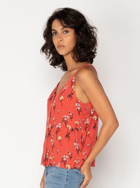 Buddha Wear: Modell 'Cooper Singlet - Ruby Flowers'
