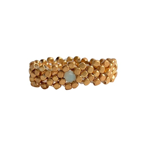 Ibu Jewels: Modell 'Ring Gold Woven - Gold'