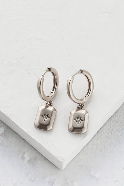 Shlomit Ofir: Modell 'Alena Earrings - Silver'