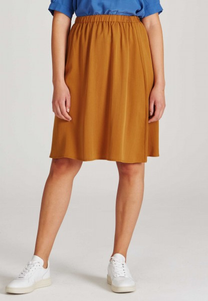 Givn: Modell 'Lily Skirt - Rubber Brown (Tencel)'