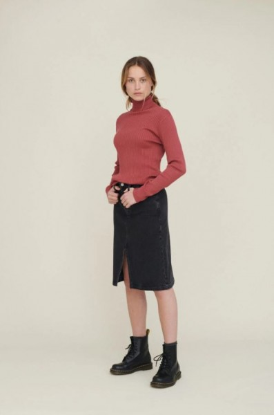 Basic Apparel: Modell 'Ellen Skirt Washed - Washed black'