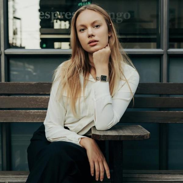 Uhrwerk Berlin: Modell 'Marlene Gold - Gold Linked'