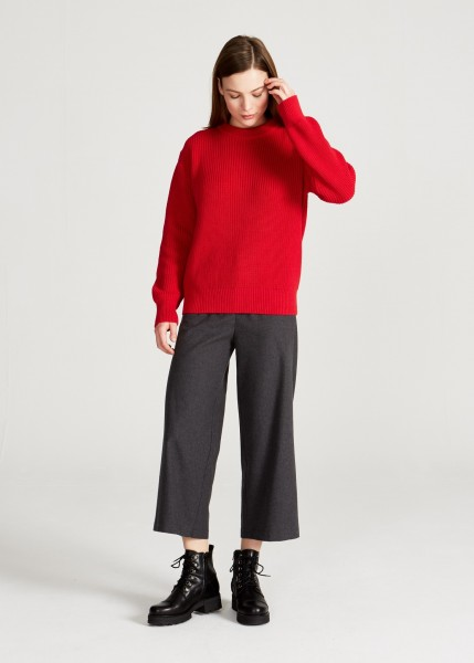 Stoffbruch: Modell 'Aria Sweater - Cyber Red'