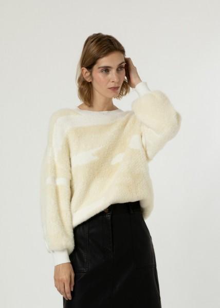 FRNCH: Modell 'Julianne Pullover - Creme'