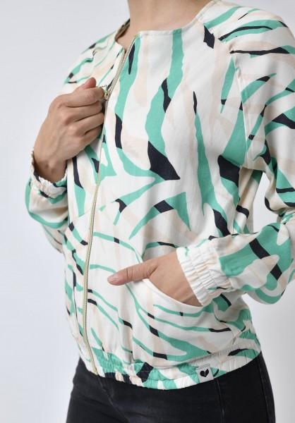 Lovjoi: Modell 'Blouson Boca Tencel Printed - Wild Jungle'