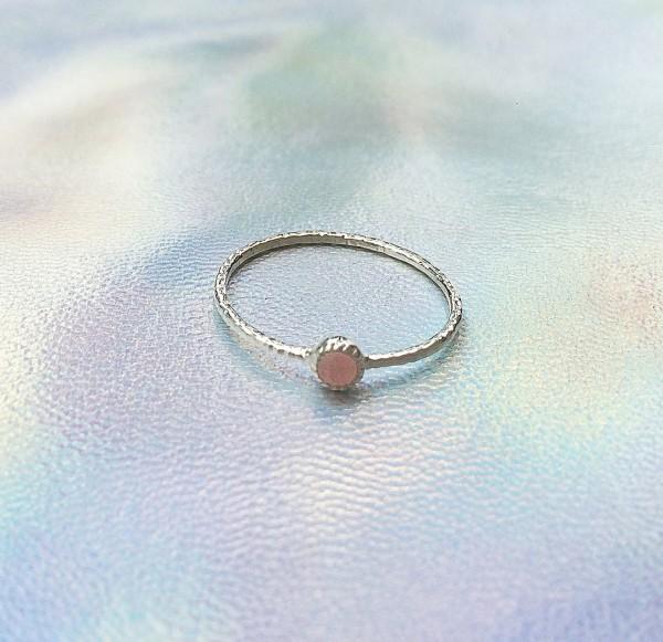 epic: Modell 'Stone Ring Rose Quartz - Silver'