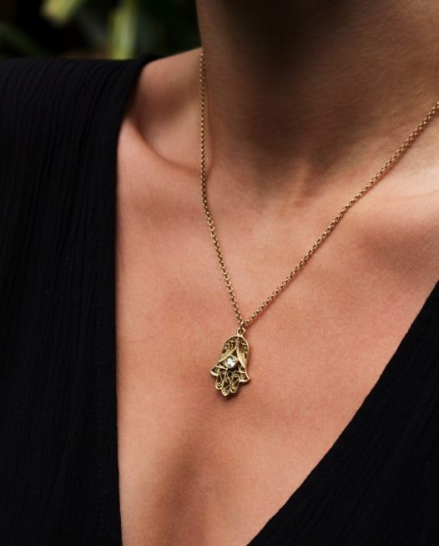 Fatima Necklace - Gold