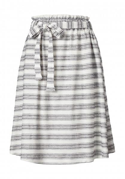 Lovjoi: Modell 'Skirt Ceanothus Fancy Jersey - Ivory/Black'