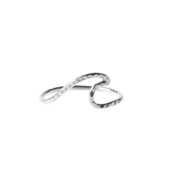 epic: Modell 'Epic Facetted Wave Ring - Silver'