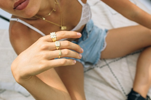 Flawed: Modell 'Majestic Ring- Gold'