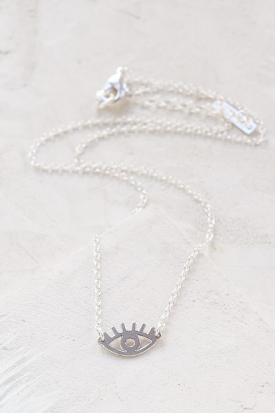 Shlomit Ofir: Modell 'Tiny Eye Necklace - Silver'