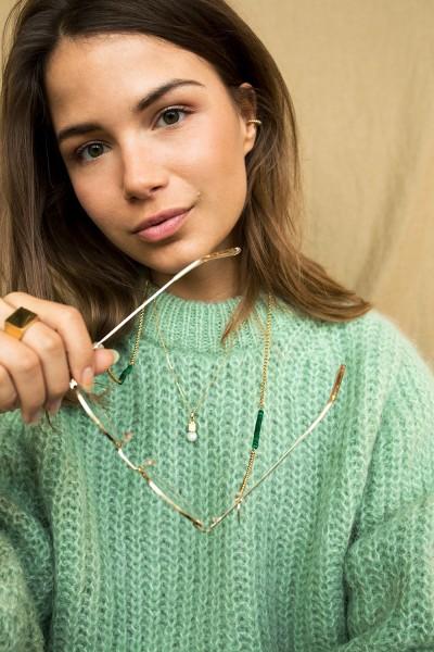 Coco Bonito: Modell 'Malachite Green Gemstone Sunnycord - Gold'