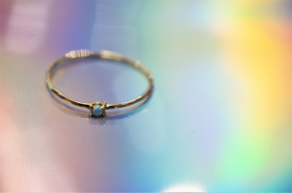 Opal Dot Ring - Gold