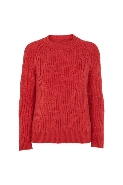 Basic Apparel: Modell 'Linea Sweater - Cranberry red'