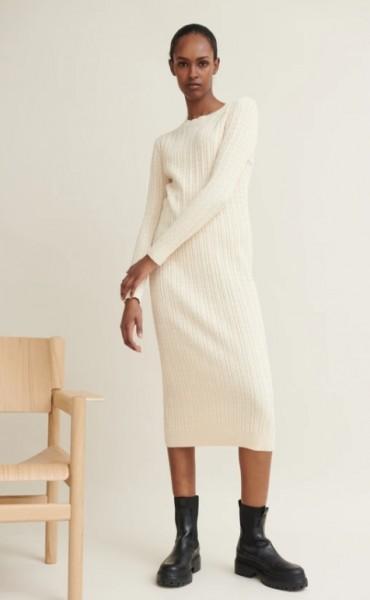 Basic Apparel: Modell 'Aline Dress - Birch'