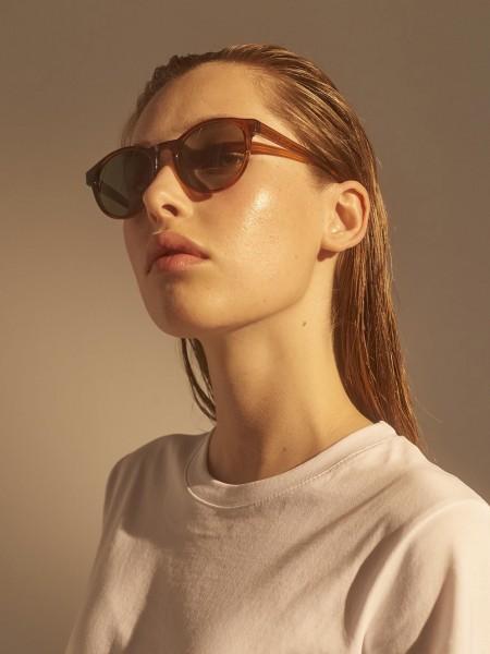 A.Kjærbede: Modell 'Marvin Sonnenbrille - Brown Transparent'