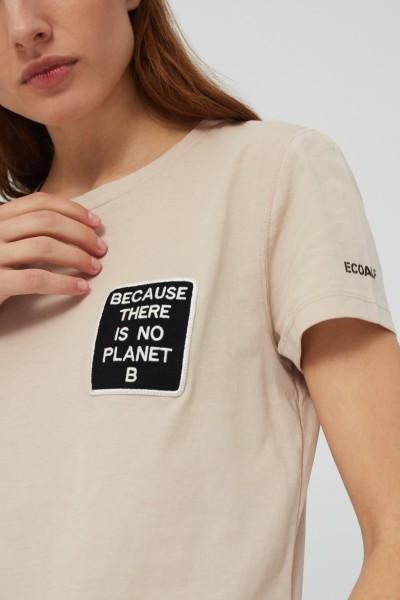 Ecoalf: Modell 'Belen Pach T-Shirt Woman - Sand'