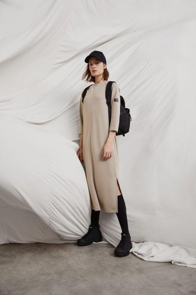 Ecoalf: Modell 'Noja Dress - White Sand'