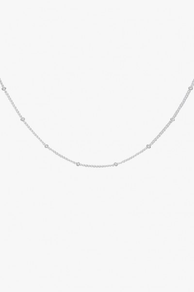 Stud Chain Necklace - Silver