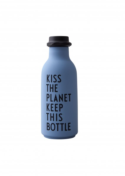 Design Letters: Modell 'TO GO Trinkflasche - BLAU'