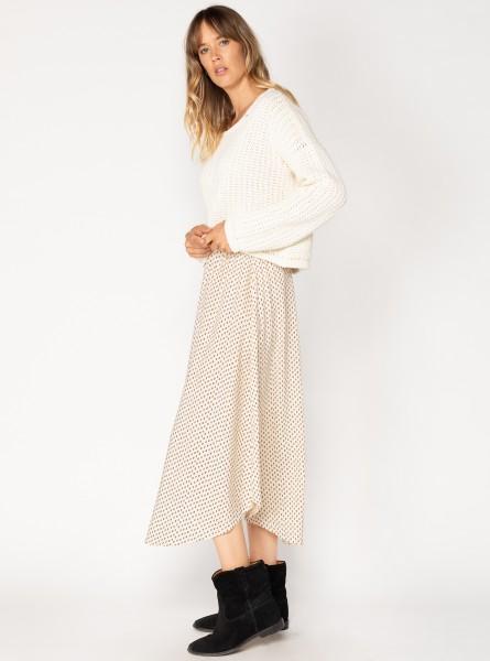 Buddha Wear: Modell 'Dally Midi Skirt - Polkajazz'
