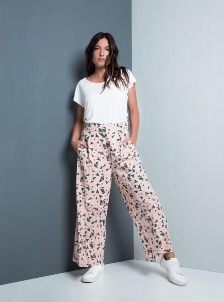 Buddha Wear: Modell 'Janan Long Pants - Flamingo Flowers'