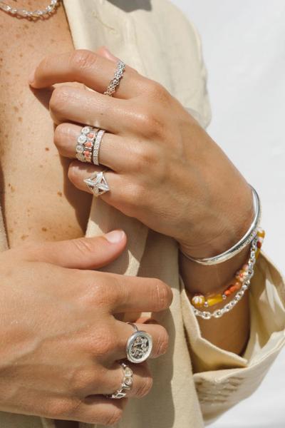 Wildthings: Modell 'Poppy Flower Ring - Silver'