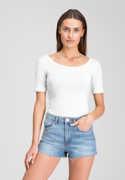 Lovjoi: Modell 'T-Shirt June Elastic Jersey - White'