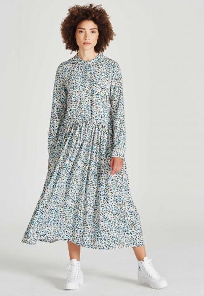 Givn: Modell 'Marina Dress - Blue / Green (Flowers)'